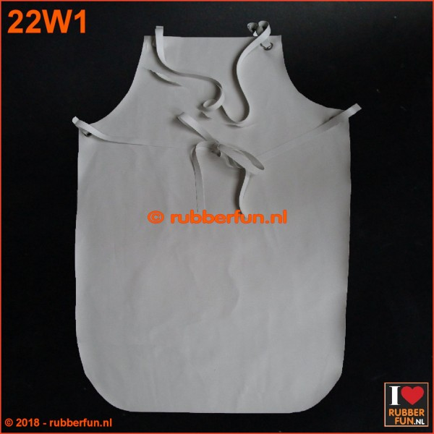 22W1 - Rubber apron - white