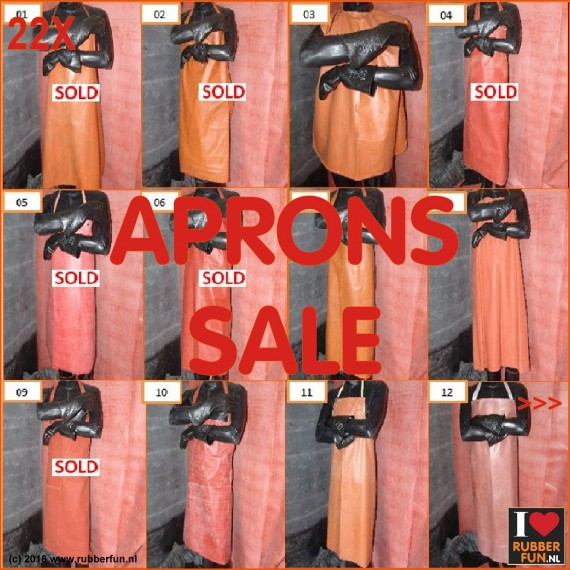 22X - SALE - Rubber aprons