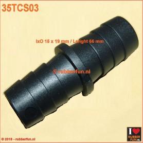 35TCS03 - connector - straight - IxO 15.0 x 19.0 mm - L 66 mm