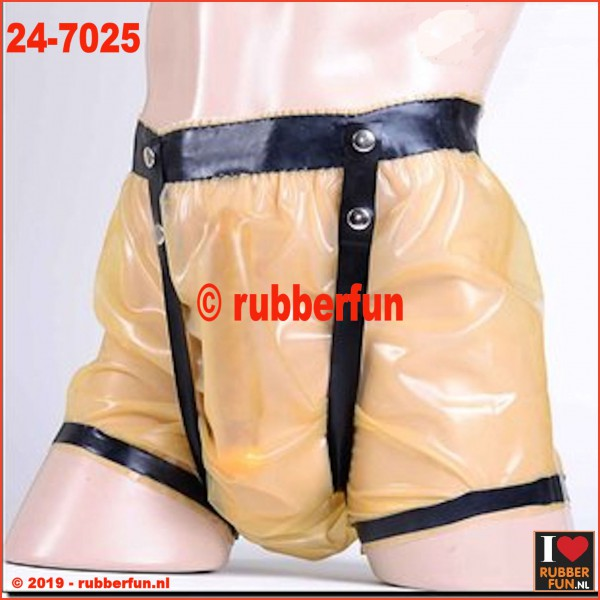 24-7025 Latex diaper pants with straps