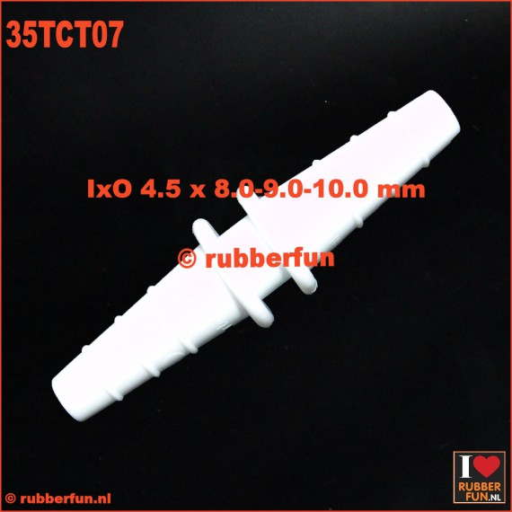 35TCT07 - connector - straight - barbed - 3-in-1 - IxO 4.5 x 8-9-10 mm