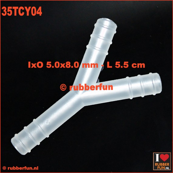 Medical connector - Y-type - 3-way - IxO 5.0x8.0 mm