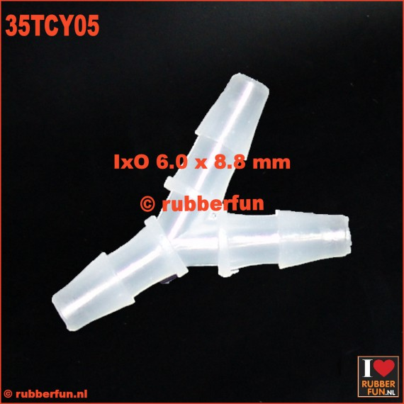 35TCY05 - Medical connector - Y-type - 3-way - IxO 6.0x8.0 mm