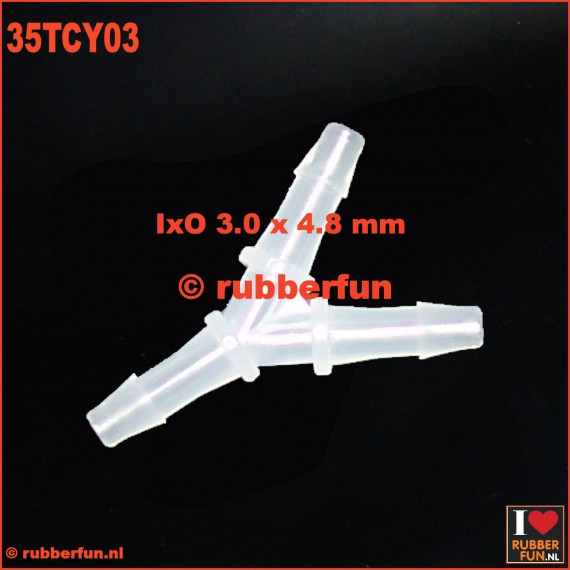 35TCY03 - medical connector - Y-type - 3-way - IxO 3.0x4.8 mm