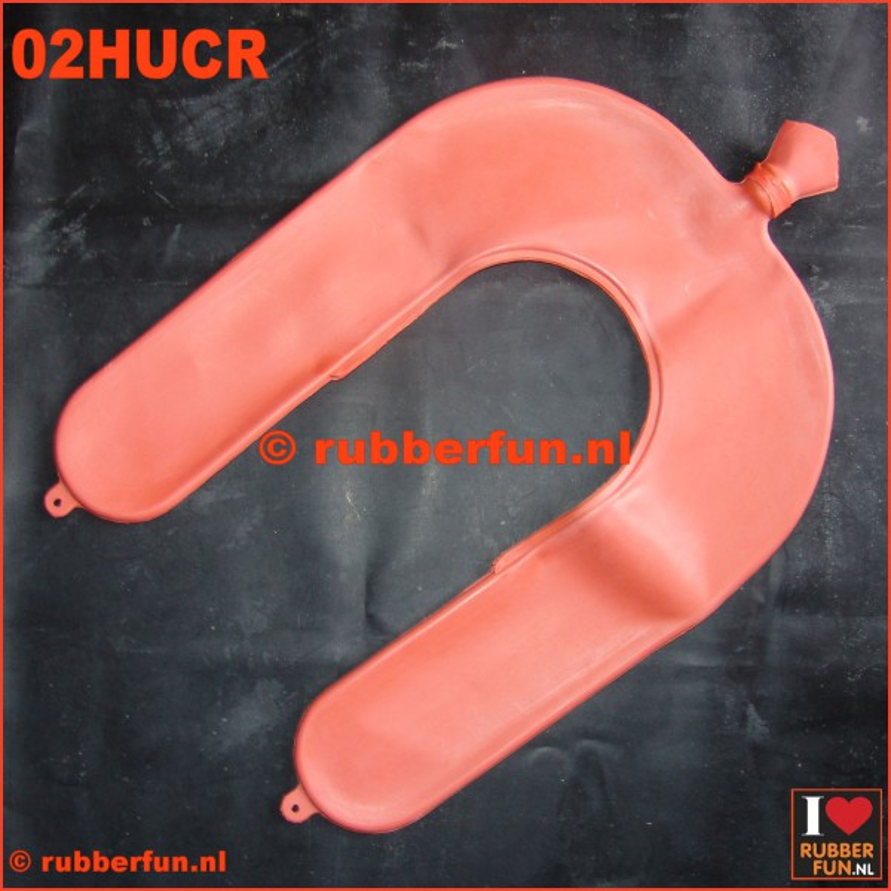 02-HUCR - Hot water bottle - U-shape - clinical red