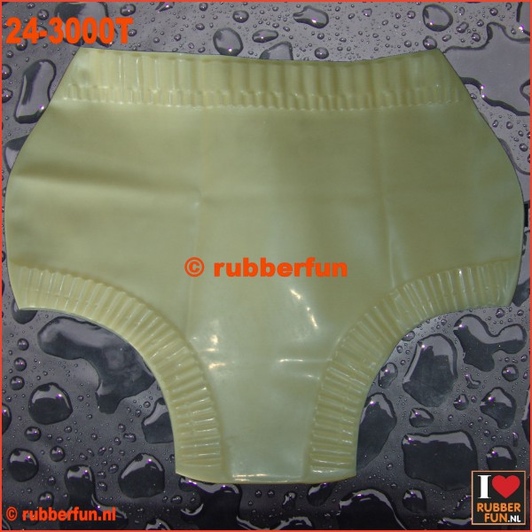 Unisex frilled rubber bloomers - transparent & black