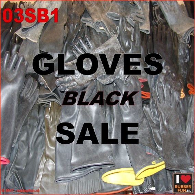 SALE - Rubber gloves - black - short (15-40 cm)