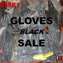 SALE - Rubber gloves - black - short (15-40 cm)