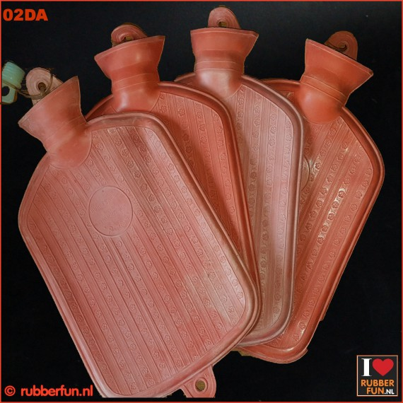 Hot water bottle - vintage clinical red