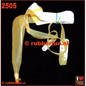 Urinal condom set - semi-clear latex