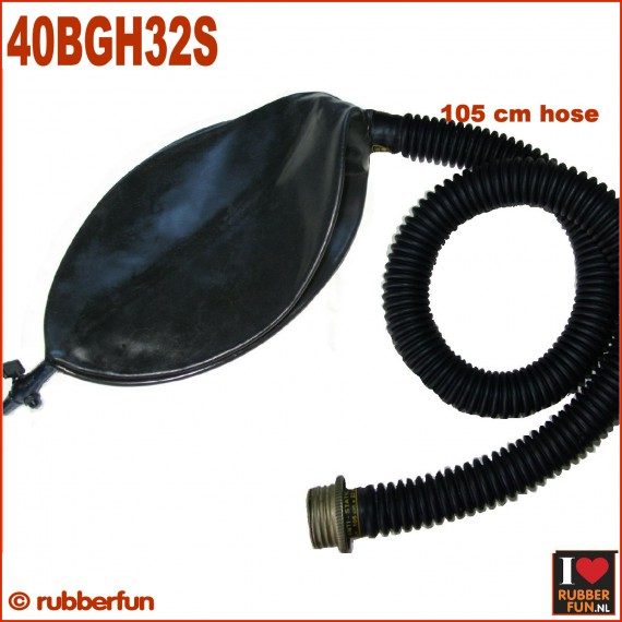 Gas mask rebreather bag with 105 cm hose and air flow controller