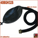 Deluxe gas mask rebreather bag with 105 cm hose and air flow controller
