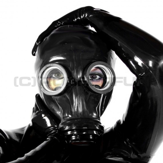 Full black GP5 gasmask for rebreathing or smellbag