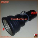 Connector anaesthesia mask 22F to gas mask F - straight, vice versa, air plug