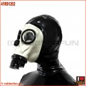 Deluxe FASER gas mask with integrated zipper hood