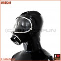 Deluxe AUER gasmask with integrated zipper hood