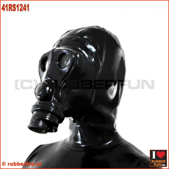 41RS1241 Deluxe SIMIAN APE gasmask with integrated zipper hood