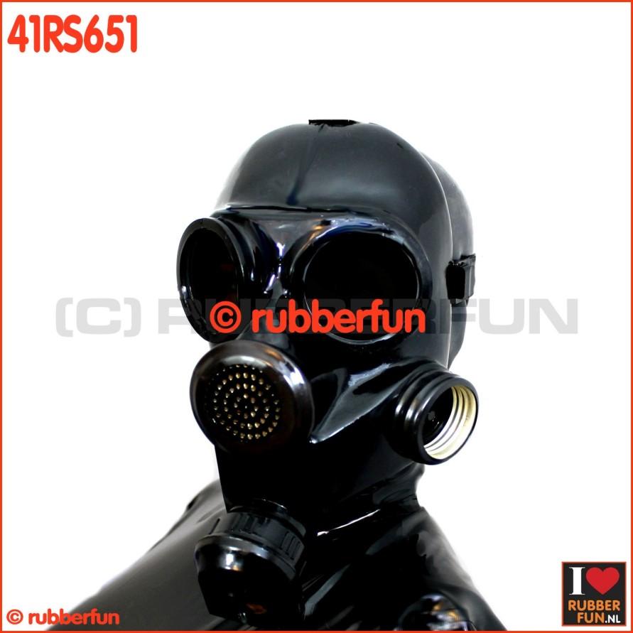 41RS861 GP7 gas mask for rebreathing, inhaler or smellbag