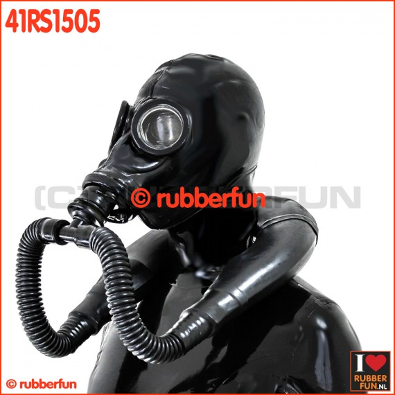 41RS1505 - Special deluxe gas mask rebreather set with hood and smell bag
