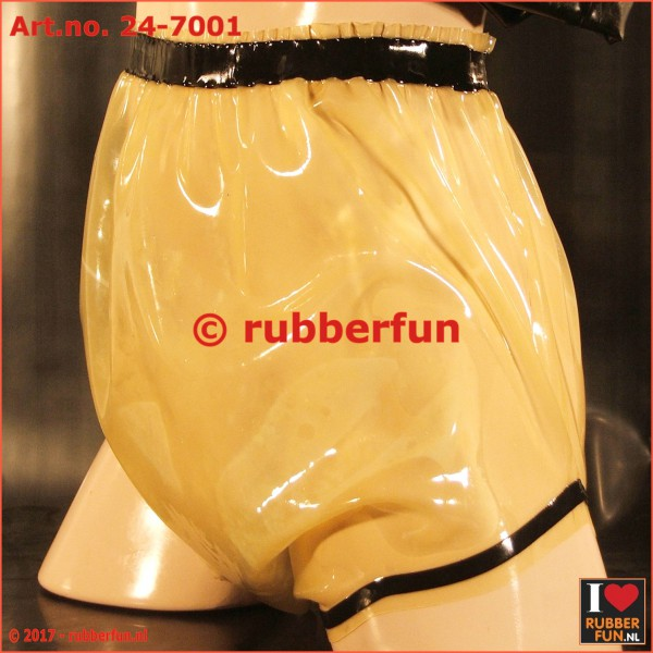 Latex diaper pants with cock ring