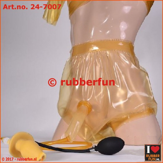 Diaper pants with sheath and anal enema plug