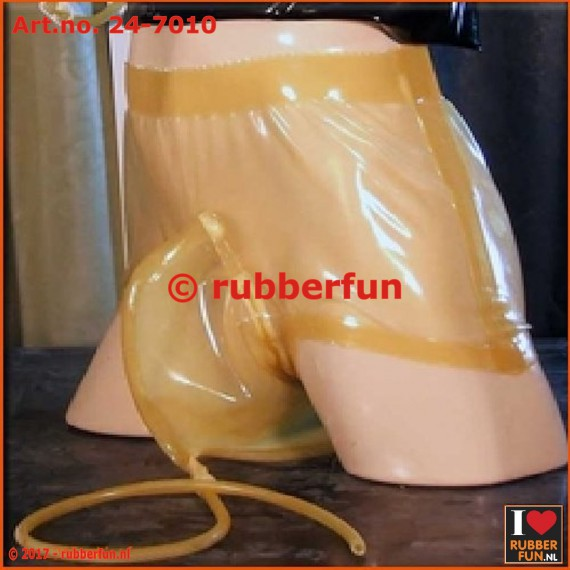 Latex rubber urinary pants with pee bag