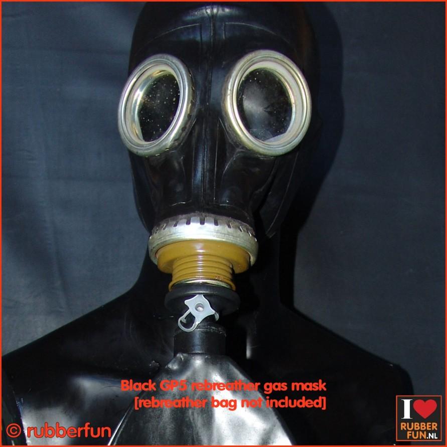 GP5 rebreather gas mask - black