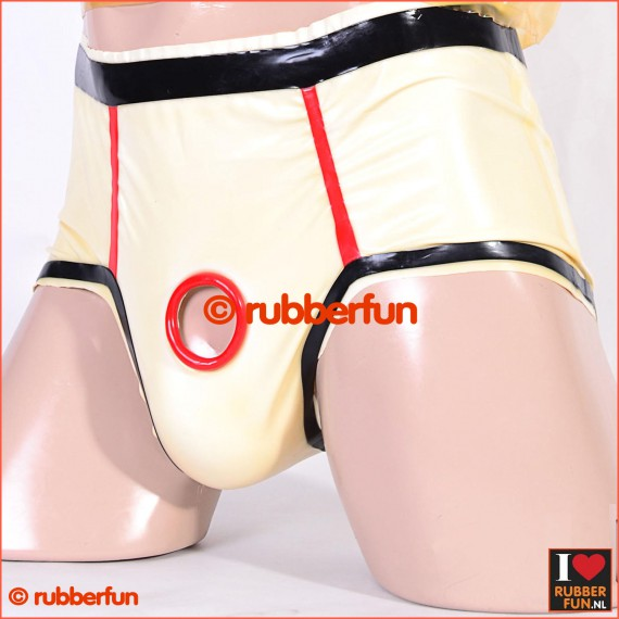 Rubber lust briefs