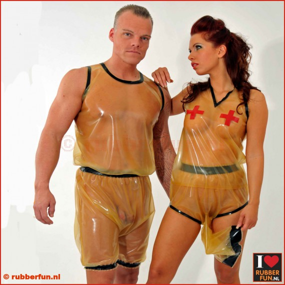 Latex rubber Bermuda Trainer Suit