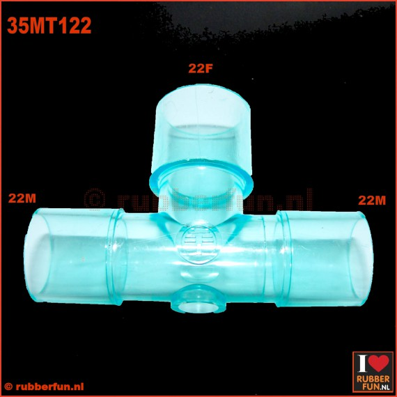 Medical connector - T-type - 22M-22F-22M